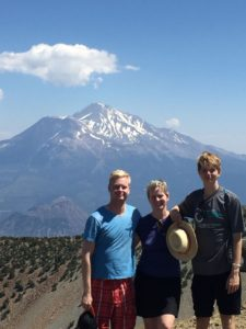 A high point of 2016. A hike to the top of Mt. Eddy with my sons. Shasta in the background.
